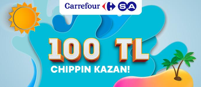 100 TL ve üzeri ödemende 20 TL, toplamda 100 TL Chippin kazan