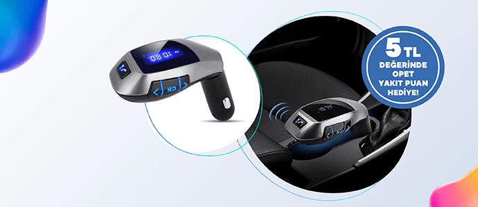 CR1 Bluetooth FM Transmitter 229 TL yerine 109 TL, 5 TL Opet Yakıt Puan kazan