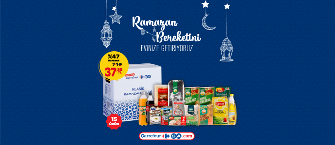 CarrefourSA Klasik Ramazan Kolisi 71,65 TL yerine sadece 37,90 TL