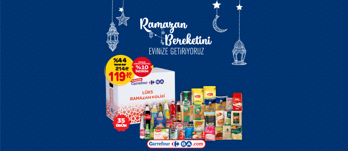 CarrefourSA Lüks Ramazan Kolisi 214,25 TL yerine sadece 119,90 TL