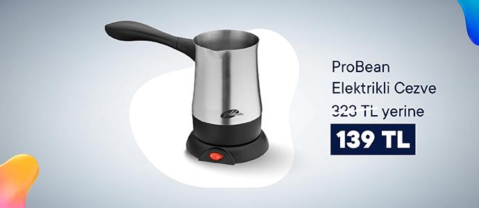 Lezzetli Türk kahveleri için ProBean Elektrikli Cezve 323 TL yerine 139 TL