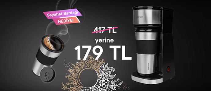 ProBello Filtre Kahve Makinası 417 TL yerine 179 TL, üstelik 5 TL Chippin