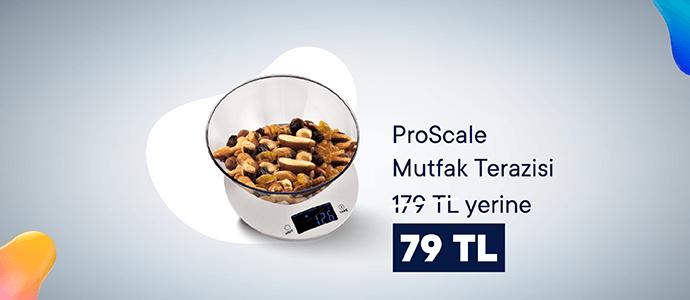 ProScale Elektronik Mutfak Terazisi 179 TL yerine 79 TL