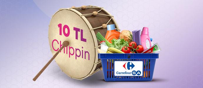 Ramazana özel 50 TL ve üzeri ödemende 10 TL Chippin kazan