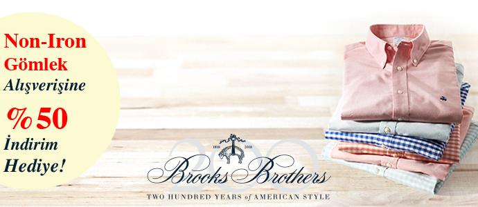 Brooks Brothers Non-Iron Gömleklerde %50 İndirim!