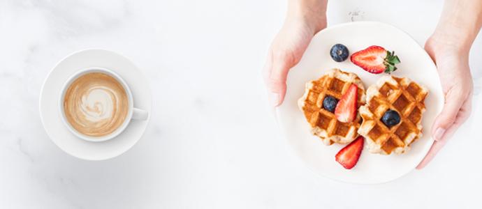 Waffle alana Americano veya Latte CHIPPIN